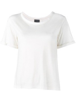 Lot78 Cashmere Side Split T-Shirt - White