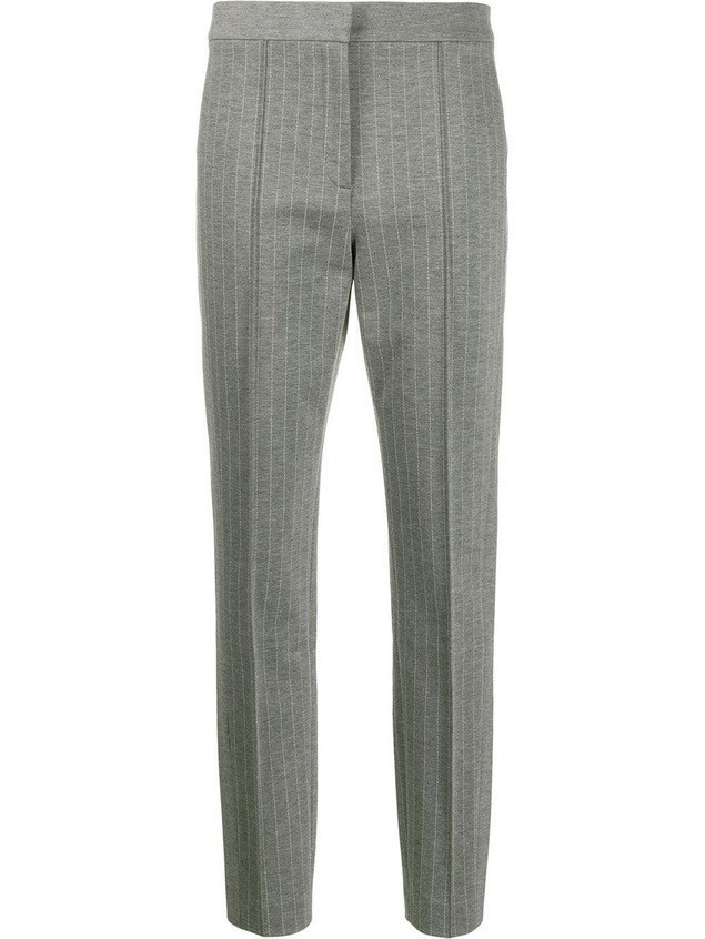 Escada Sport tailored pinstripe trousers - Grey