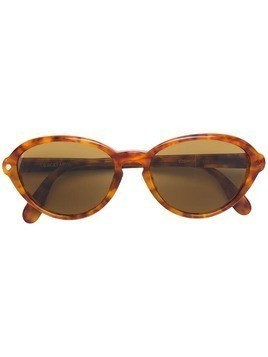 Giorgio Armani Pre-Owned tortoiseshell oval sunglasses - Yellow