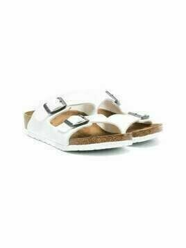 Birkenstock Kids Arizona leather sandals - White