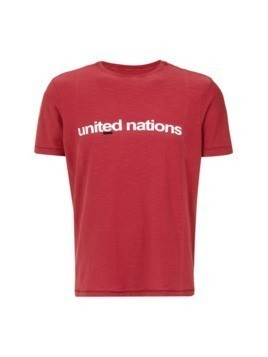 Osklen United Nations print T-shirt - Red