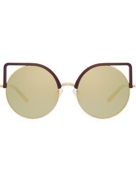 Matthew Williamson cat eye sunglasses - Gold