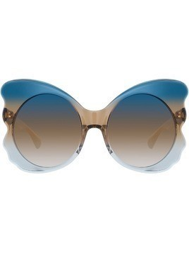 Matthew Williamson Special oversized sunglasses - Blue