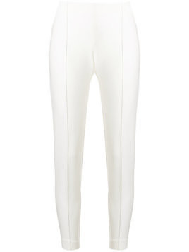 Le Tricot Perugia cropped fitted trousers - White