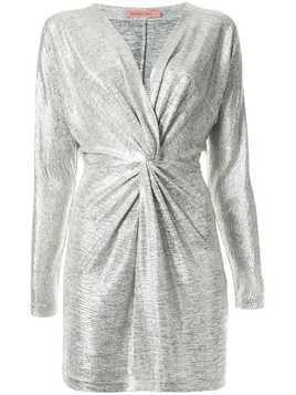 Manning Cartell metallic twisted dress - Silver