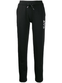 Ea7 Emporio Armani tapered track trousers - Black