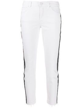Escada Sport side stripe skinny jeans - White