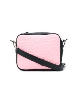 Kenzo Kombo tiger stripes shoulder bag - Pink&Purple
