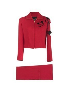 John Galliano Vintage cut out flower suit - Red