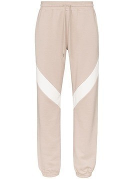 Ninety Percent block-stripe track trousers - Brown
