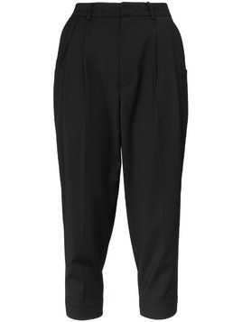 Ader Error cropped wool-blend trousers - Black
