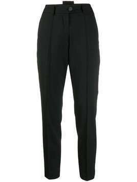 Isabel Benenato high waisted tapered trousers - Black