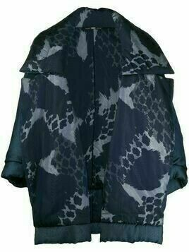 Gianfranco Ferré Pre-Owned 1990s leopard print oversized puffer jacket - Blue