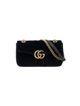 Gucci GG Marmont velvet shoulder bag - Black