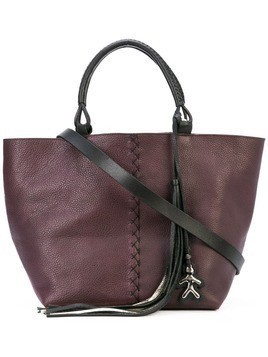 Henry Beguelin logo tag tote bag - PURPLE