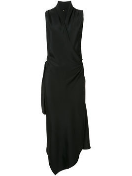 Peter Cohen Victor wrap-style silk dress - Black