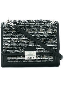 Karl Lagerfeld K/Kuilted Tweed hand bag - Black