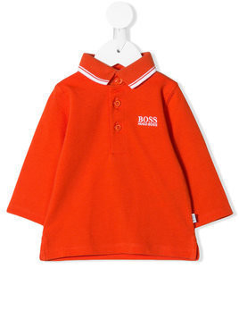 Boss Kids stripe trim polo shirt - Yellow & Orange