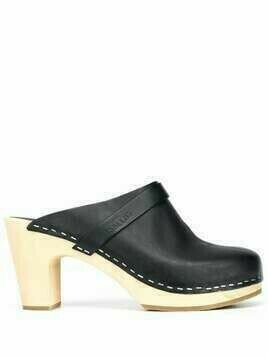 Swedish Hasbeens slip-on high-heel clogs - Black