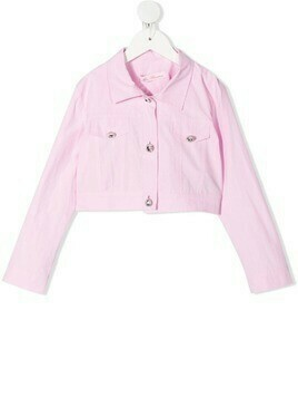 Miss Blumarine cropped denim jacket - Pink