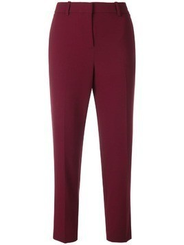 Theory cropped slim fit trousers - Red