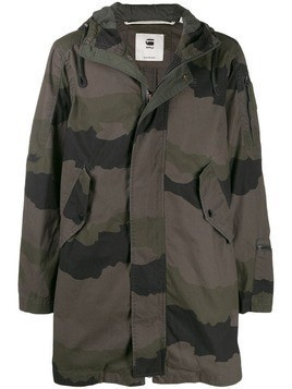 G-Star Raw Research camouflage print hooded parka - Green