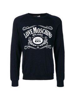 Love Moschino printed sweatshirt - Blue