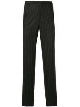 Gieves & Hawkes pinstripe tailored trousers - Grey