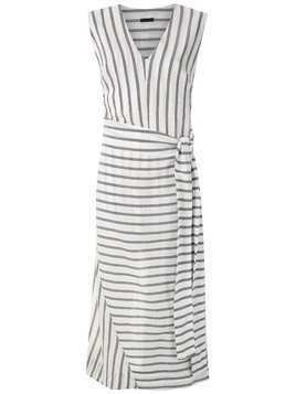 Osklen Pareo Stripe maxi dress - White