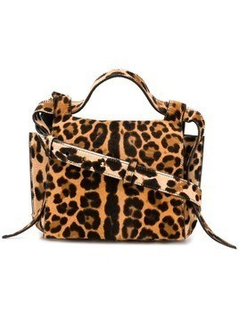 Elena Ghisellini leopard Angel shoulder bag - Neutrals