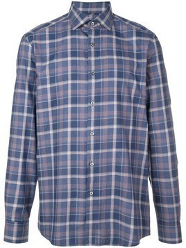 Ermenegildo Zegna plaid shirt - Blue
