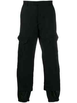 Delada straight-leg cargo trousers - Black