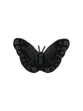 Rochas beaded butterfly brooch - Black