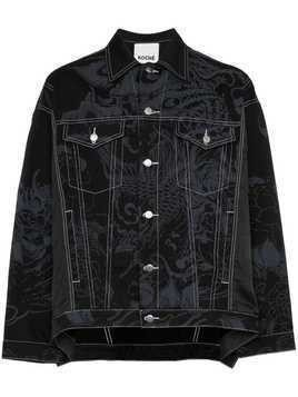 Koché Phoenix printed denim jacket - Black