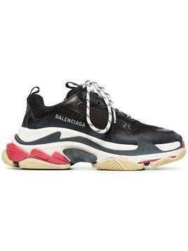 Balenciaga Chunky Soled Sneakers - Black