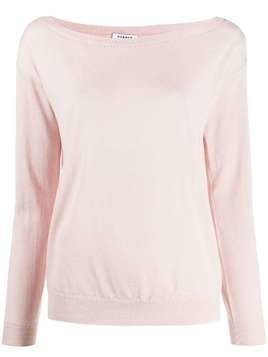 P.A.R.O.S.H. scoop neck knitted top - PINK