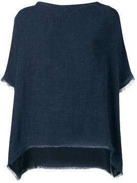 Dusan Easy fringe top - Blue