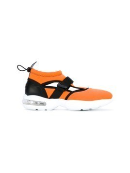 MSGM crossover strap sneakers - Yellow&Orange
