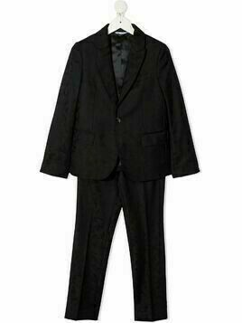 Dolce & Gabbana Kids single-breasted jacquard two-piece suit - Blue