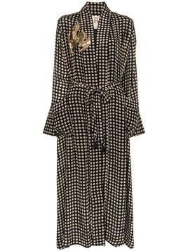 Figue Olatz polka-dot robe - Black