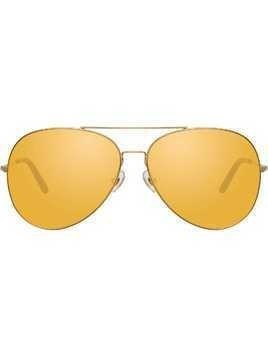 Matthew Williamson aviator frame sunglasses - Gold