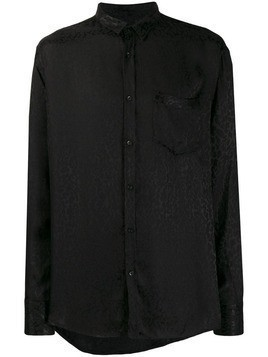 Christian Pellizzari long-sleeved leopard print shirt - Black