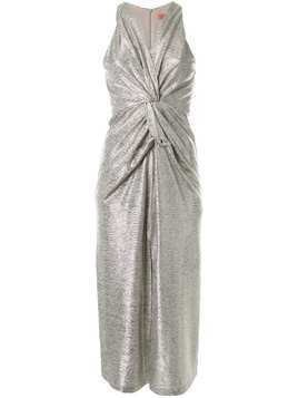 Manning Cartell metallic ruched dress - Silver