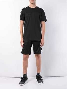 adidas 3-stripes short-sleeve T-shirt - Black