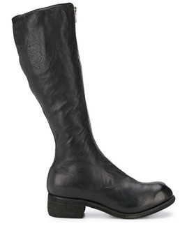 Guidi tall zip front boots - Black