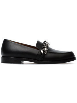 Givenchy black 25 chain leather loafers