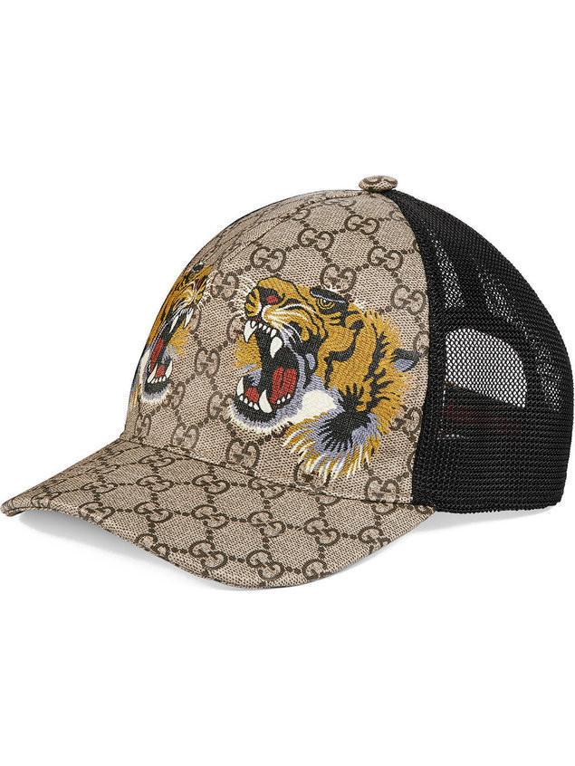 Gucci Tigers Print Gg Supreme Baseball Hat Neutrals. Gucci Tigers Print Gg  Supreme Baseball Hat Neutrals. Gucci Tiger Printed Nylon Jacket 451777  Z761a 4671 ... a574e2ee670