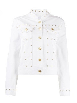 Escada Sport fitted stud-embellished jacket - White