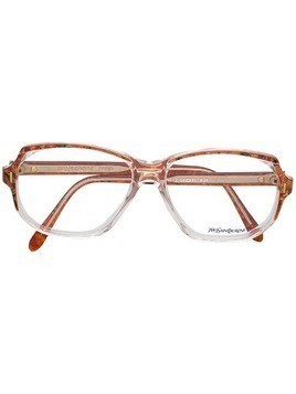 Yves Saint Laurent Pre-Owned marbled frame glasses - Red