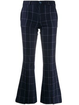 Each X Other checked flared trousers - Blue